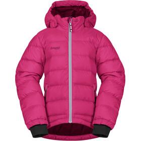 Bergans Down Jacket Kids Raspberry/Solid Light Grey